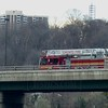 Aerial 322 on the Leaside Bridge.<br /> <br /> Photo by John Hanley