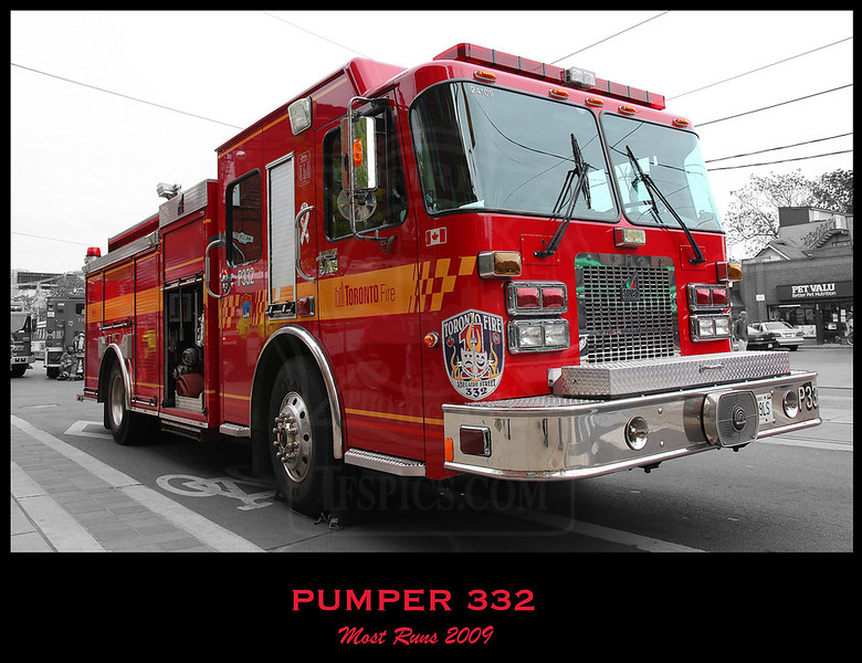 Pumper 332 had the most runs for the fifth straight year, with 4741 total runs.<br /> <br /> Photo by Kevin Hardinge