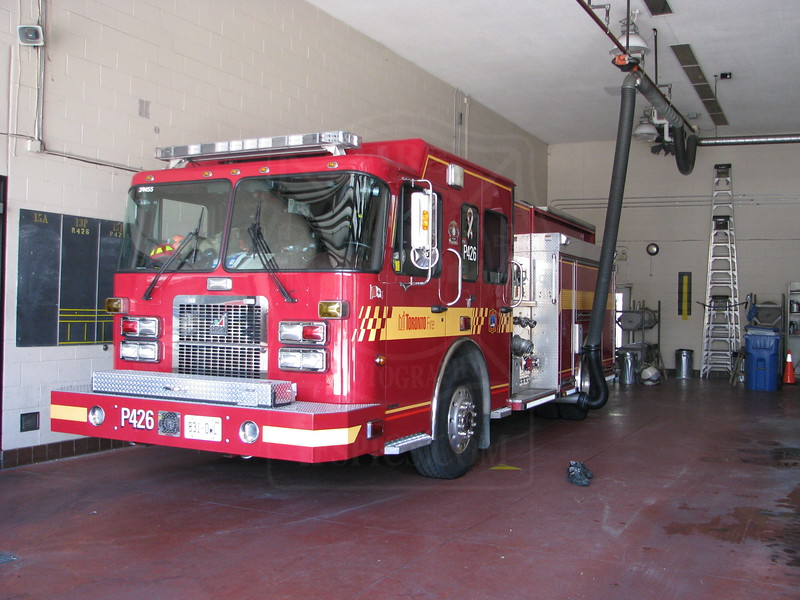 Pumper 426 in quarters.<br /> <br /> Photo by Justin Waldon