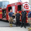 """Pumper 332 """"B"""" Platoon"""" at a Dundas Square community event, May 22, 2011.<br /> <br /> Photo by Larry Thorne"""