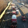 Vehicle accident on the northbound DVP.<br /> <br /> Photo by John Hanley / johnhanleyphoto.com