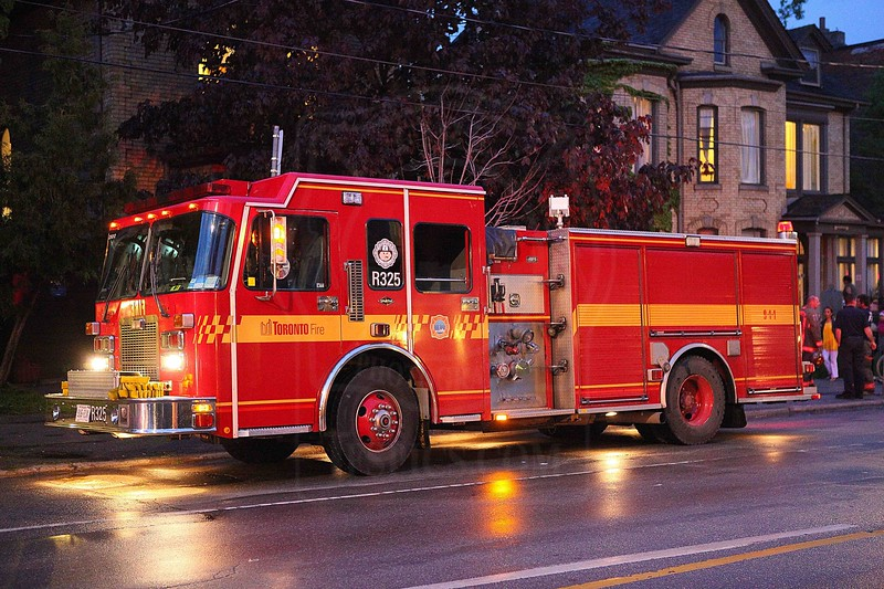 May 23, 2011 - 8:44pm<br /> Rescue 325 on the scene of a fire on Sherbourne St. @ Gerrard.<br /> <br /> Fire - Institution: P325, P313, P314, R325, A325, C31<br /> <br /> Photo by Kevin Hardinge