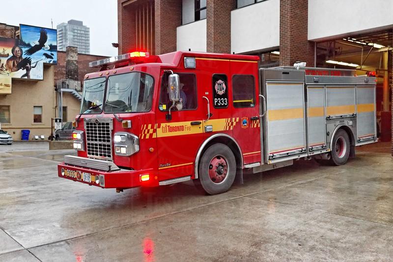 Pumper 333's new rig in service October 26, 2011.<br /> <br /> 2010 Spartan MetroStar<br />           Crimson Fire / Dependable<br />           2000gpm / 500 gal. tank<br />           Shop # 25034<br /> <br /> <br /> Photo by Kevin Hardinge