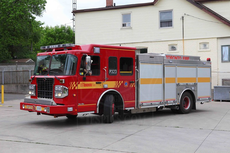 Pumper 323's new Spartan / Crimson entered service June 23, 2011.<br /> <br /> Photo by Kevin Hardinge
