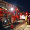 "July 21, 2011 - 9:35pm - South Command - ""D"" Shift<br /> <br /> Toronto Fire on the scene of a small electrical fire in the basement of a Bloor St. apartment building, which knocked out power to the surrounding neighbourhood, including Station 313 next door.<br /> <br /> 1st Alarm: P312, P314, R325, A312, C31<br /> Additional: S313<br /> <br /> Photo by Kevin Hardinge"