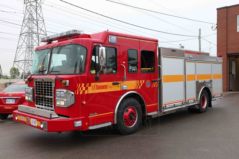 Pumper 141's new Spartan / Crimson has been placed in service.<br /> <br /> Photo by Kevin Hardinge