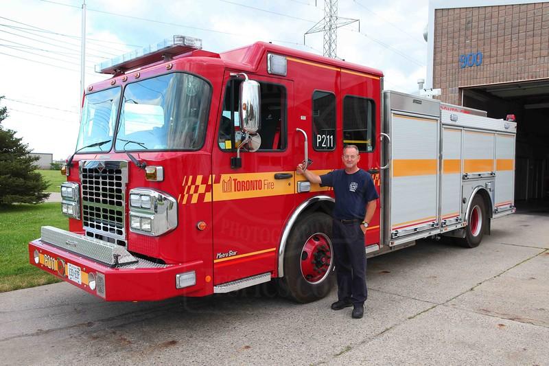P211's new Crimson / Spartan entered service June 28, 2011.<br /> <br /> Photo by Kevin Hardinge