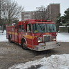 Rescue 231 on the scene of a fatal shooting at 3895 Lawrence Ave. East, December 30th, 2011.<br /> <br /> Photo by Larry Thorne