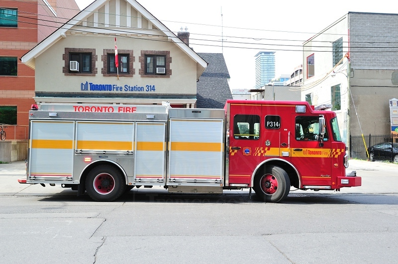 Pumper 314's new rig in service July 7th 2011.<br /> <br /> Photo by Kenneth Lai