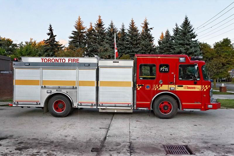 Pumper 215's new rig entered service September 15, 2011.<br /> <br /> Photo by Kevin Hardinge