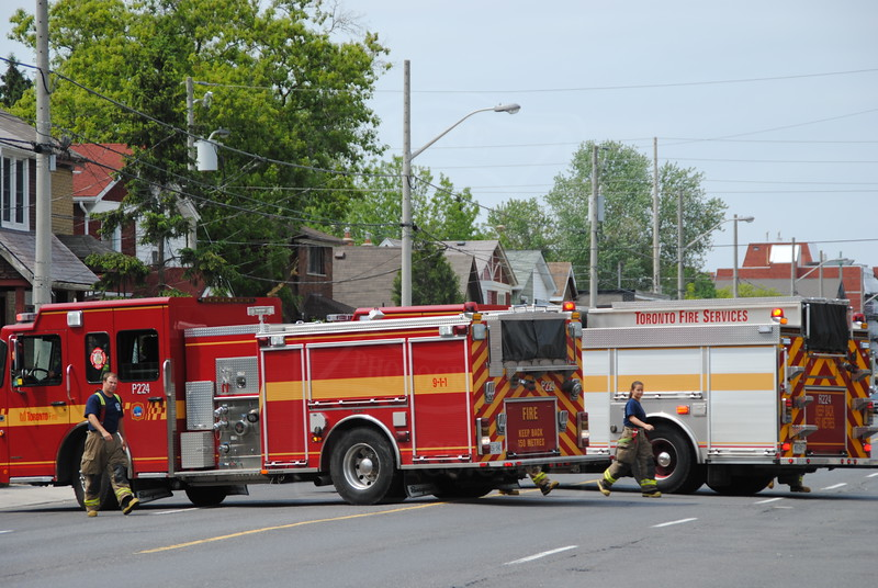 P224 & R224 return to quarters.<br /> <br /> Photo by Larry Thorne