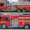 Aerial 324 / Pumper 212 comparison.<br /> <br /> Photo by Kenneth Lai