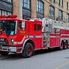 Spare aerial, Shop #26017, a 1990 Mack/ Superior with 105' midmount ladder.<br /> <br /> Photo by Kennet Lai