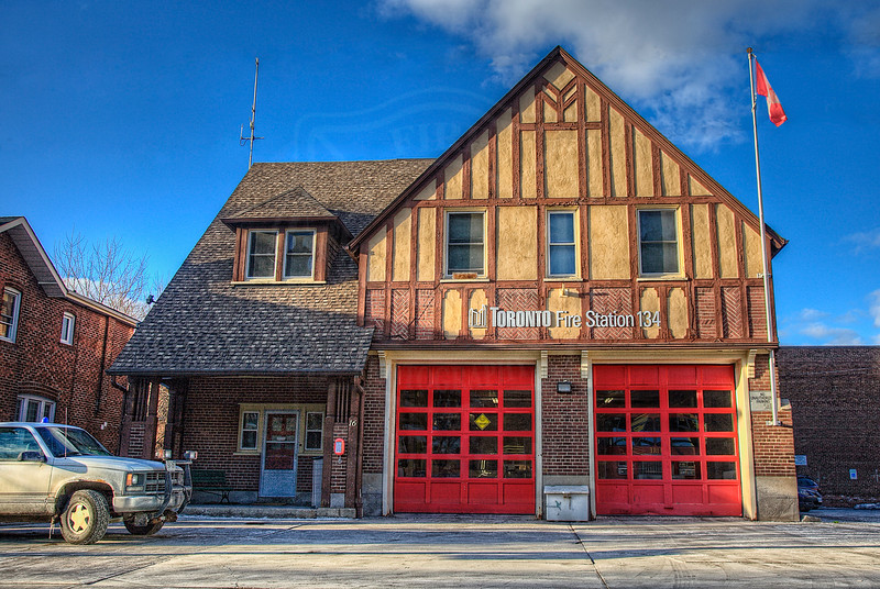Station 134<br /> <br /> 16 Montgomery Ave.<br /> Built 1932<br /> Formerly Toronto F.D. Station 28<br /> <br /> R134<br /> <br /> Photo by Kevin Hardinge