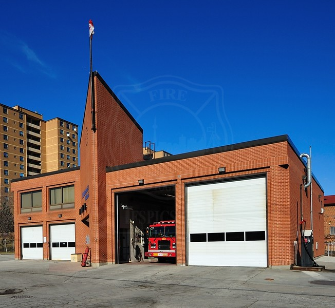 Station 142<br /> <br /> 2753 Jane St.<br /> Built 1982<br /> Formerly North York F.D. Station 14<br /> <br /> P142, A142, C14<br /> <br /> Photo by Kenneth Lai