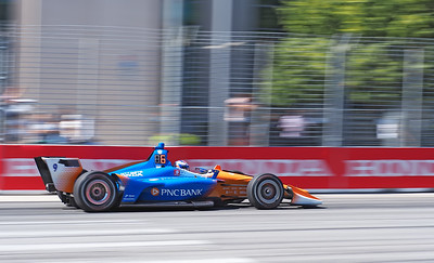 Scott Dixon passing by the Enercare Center.