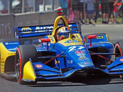 Alexander Rossi in the NAPA Auto Parts car.