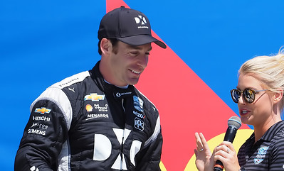 Pole position by Frenchman Simon Pagenaud.