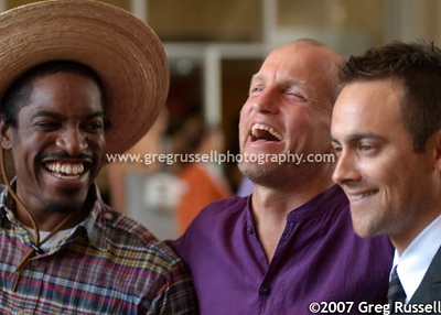 Stuart Townsend, Woody Harrelson and André Benjamin