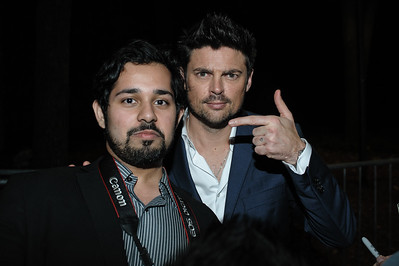 Karl Urban and Fan