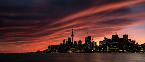 Blanket over Toronto