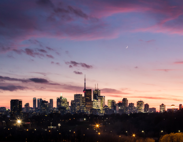 Crescent Moon over Toronto