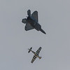 USAF F-22 Raptor and P-51 Mustang