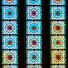 """Stained glass windows above the doors of the East Heritage building from inside the <a href=""""http://www.rom.on.ca/about/history/rotunda.php"""" target=""""_blank"""">Rotunda</a>"""