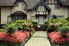 Tudor House with Flowers
