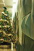 Patterned Wall with Xmas Tree