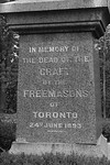 Freemason Monument Inscription