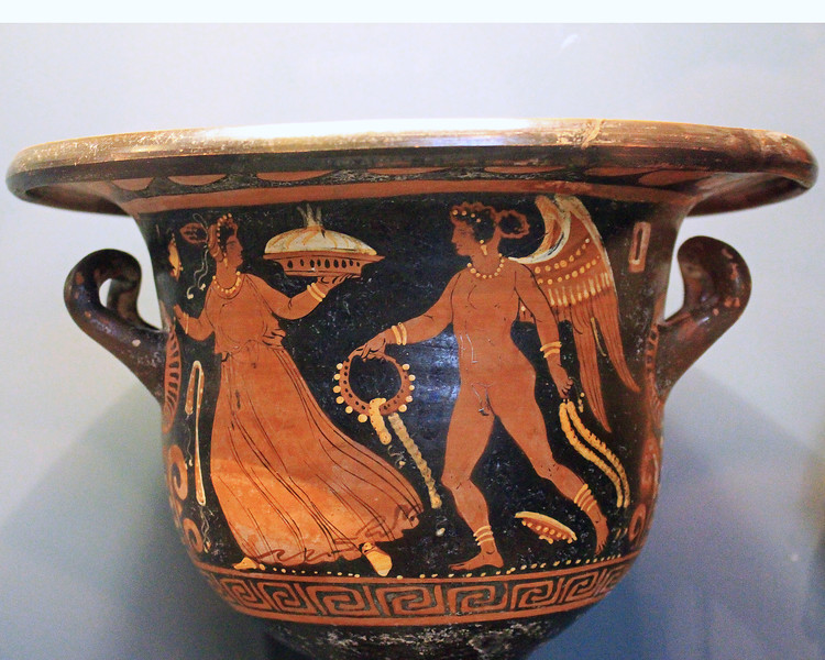 Bell-Krater - Eros Chasing a Young Woman