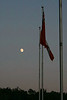 Flagpoles and Moon