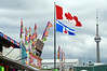 Banners, Flag and CN Tower