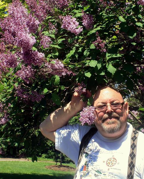 John with Lilacs
