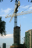 Crane in Front ofDifferent Project