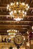 Chandeliers and Clock