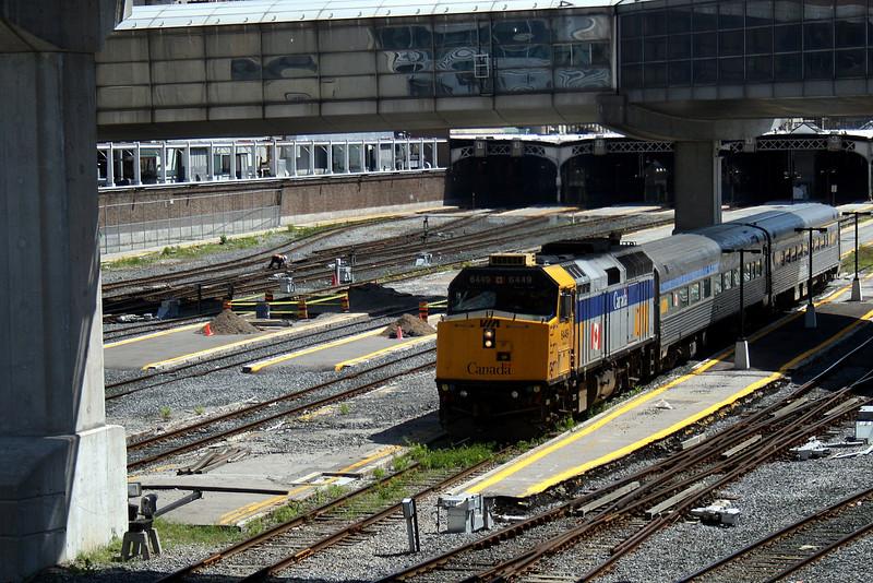 VIA Train Approaching