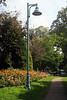Flowers and Street Lamp in  Kew Gardens Park