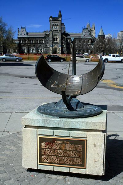 Toronto Time Sundial