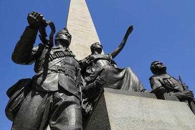 Memorial on University Ave for the fallen