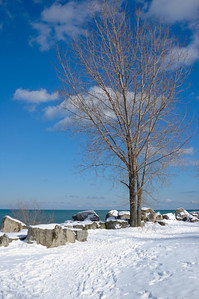 Toronto lake shore at the Beaches