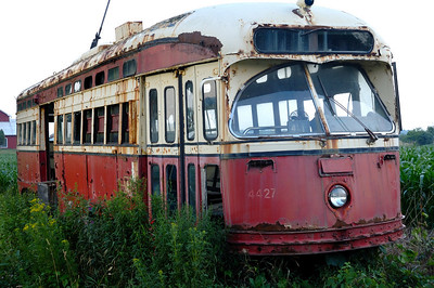 Old Toronto Streetcar on a farm