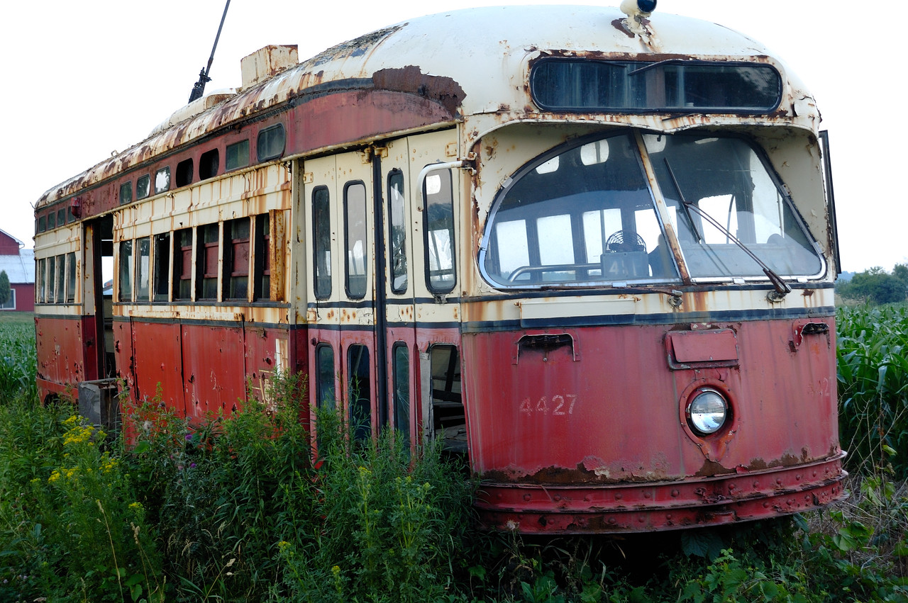 Old Toronto Streetcar on a farm