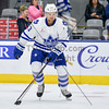 OCTOBER 18, 2014 - TORONTO CANADA - In game three of their 2014-2015 season, AHL Toronto Marlies  battle against the Rochester Americans at Ricoh Coliseum  (Photo credit: Christian Bonin/TSGphoto.com)