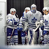 OCTOBER 24, 2014 - TORONTO CANADA - In a rare Friday night tilt, the AHL Toronto Marlies  face off against their division rivals Hamilton Bulldogs at Ricoh Coliseum. (Photo credit: Christian Bonin/TSGphoto.com)
