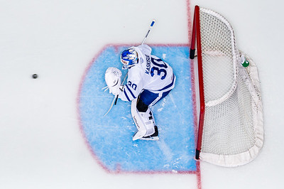 October 16th, 2019  -  TORONTO ONTARIO CANADA -  The Toronto Marlies, AHL affiliate of the NHL Toronto Maple Leafs, take on the Hershey Bears at the Coca-Cola Coliseum in Toronto Canada. (Photo credit: Christian Bonin/TSGphoto.com)