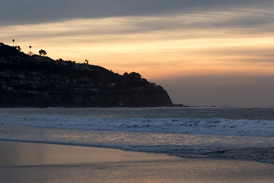 Torrance Beach PV in background sunset