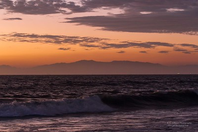 Torrance Beach Before Just After Sunset