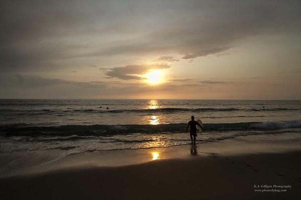 Sunset Surfer Torrance Beach